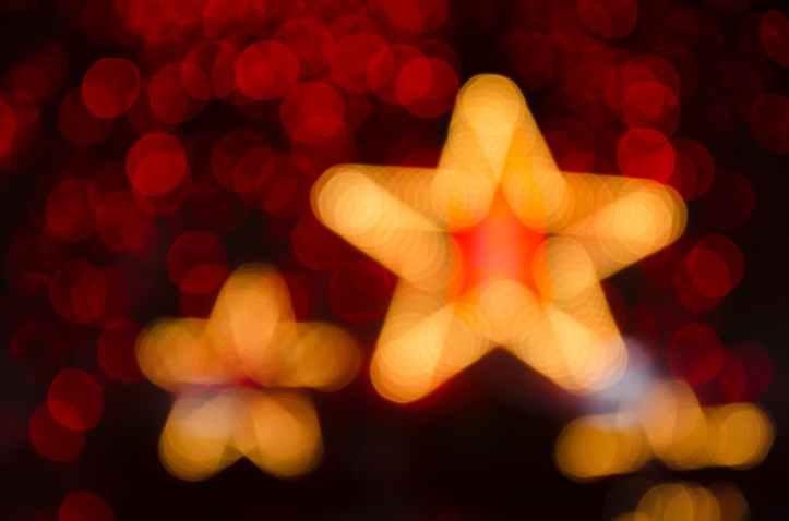 orange star bokeh light